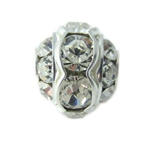 SWAROVSKI ELEMENTS Strasskugel Silber 12mm Crystal