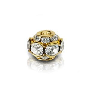 SWAROVSKI ELEMENTS Roundelle Balls Gold 10mm Crystal