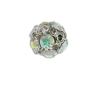 SWAROVSKI ELEMENTS Roundelle Balls 5mm Rhodium Plated Crystal AB