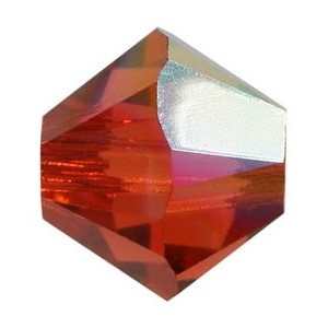 SWAROVSKI 5328 XILION 4mm Perle Indian Red AB