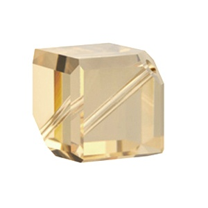 SWAROVSKI 5600 6mm Diagonal Cube Golden Shadow