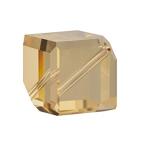 SWAROVSKI 5600 4mm Diagonal Cube Light Col Topaz