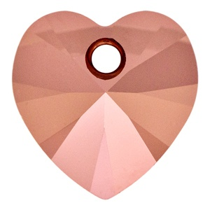 SWAROVSKI 6228 14mm Xilion Heart Rose Gold
