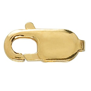 Lobster Clasp 14mm Flat Gold Plated