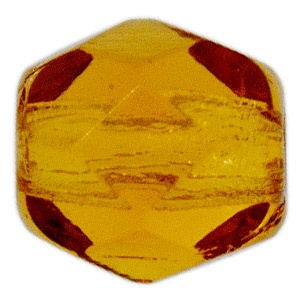 Czech Bead 4mm round Smoked Topaz