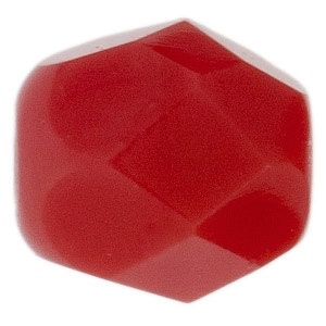Czech Bead 4mm round Red Coral