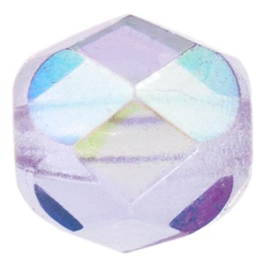 Czech Bead 4mm round Violet AB