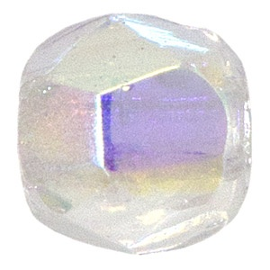 Czech Bead 10mm round Crystal AB