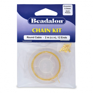 Beadalon Snake Chain Kit 2m Brass Gold plated