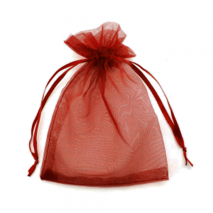 Organza Jewelry Gift Bag 9 x 12cm Brown