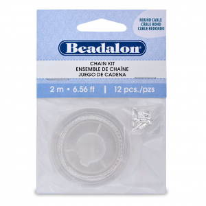 Beadalon Chain Kit 2m Brass silver plated