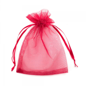 Organza Jewelry Gift Bag 9 x 12cm Red