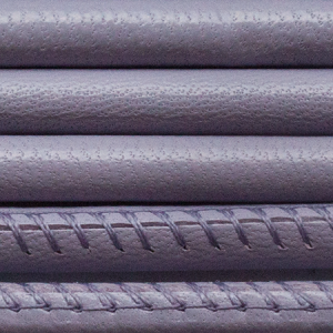 Round Nappa Leather 6mm Stitched Lavender