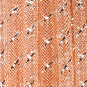 Nylon Fishnet Tube with Silver Inlay 8mm Peach