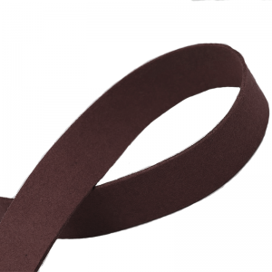 Flat Faux Suede Cord 20mm Coffee