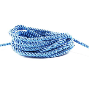 Twisted Round Polyester Cord 5mm Light Blue