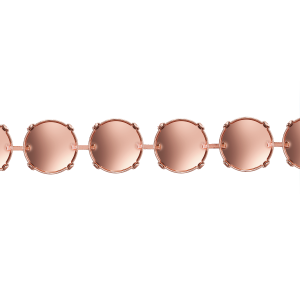 Empty Cup Chain Rose Gold Swarovski Rivoli 14mm