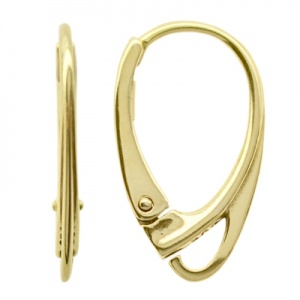 Brisuren 17.7mm Sterling Silber Gold 24K
