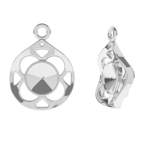 Medallion pendant 19mm sterling silver for Swarovski Rivoli 6mm