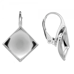 Lever Back 10mm Sterling Silver Swarovski 2493
