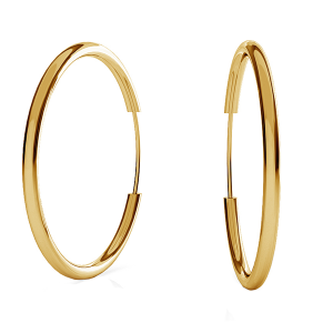 Endless Hoop Earring 25mm Sterling Silver Gold Plated 24K