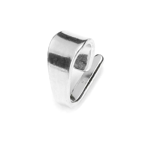 Bail 7.6mm Sterling Silver plated