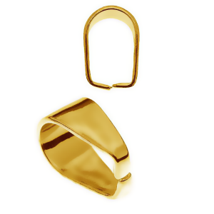Prong Bail 7mm Sterling Silver 24K Gold plated