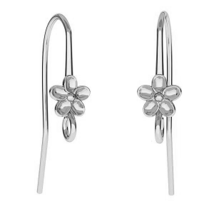 Ear Hook Flower 26mm Sterling Silver