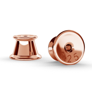 Klemme Ohrstecker 5.30mm Sterling Silber Rose Gold
