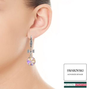 Make your own Stainless Steel Bow Earrings with SWAROVSKI Crystals