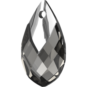 SWAROVSKI 6565 18mm Tropfen Anhänger Black Diamond Light Chrome