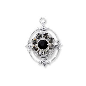 SWAROVSKI Filigrananhänger 62012 17mm Jet Black Diamond
