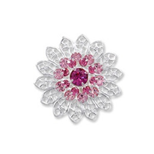 SWAROVSKI Element 62004 26mm Light Rose Rose Fuchsia