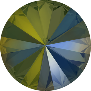 SWAROVSKI Rivoli 1122 8mm Iridescent Green