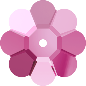 SWAROVSKI 3700 6mm Blume Rose