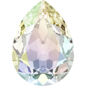 SWAROVSKI 4320 8mm Pear Crystal AB