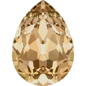 SWAROVSKI 4320 8mm Birne Golden Shadow