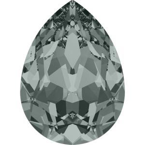 SWAROVSKI 4320 10mm Birne Black Diamond