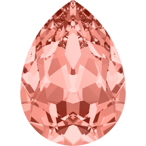 SWAROVSKI 4320 14mm Birne Rose Peach