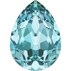 SWAROVSKI 4320 8mm Pear Light Turquoise