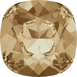 SWAROVSKI 4470 10mm rounded Square Golden Shadow
