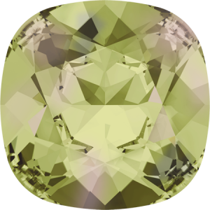 SWAROVSKI 4470 10mm rounded Square Luminous Green