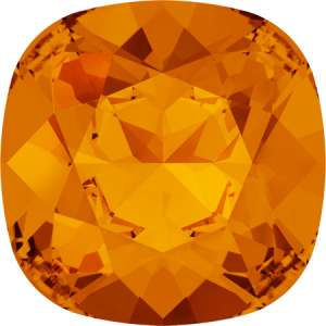 SWAROVSKI 4470 10mm rounded Square Tangerine