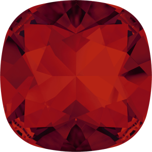 SWAROVSKI 4470 10mm rounded Square Scarlet
