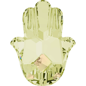 SWAROVSKI 4778 18mm Fatima Hand Crystal Luminous Green