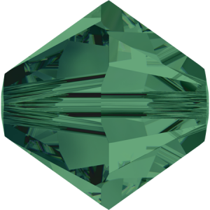 SWAROVSKI 5328 XILION Bead 4mm Emerald