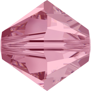 SWAROVSKI 5328 XILION 5mm Light Rose