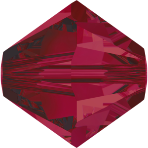 SWAROVSKI 5328 XILION Bead 4mm Ruby