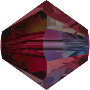 SWAROVSKI 5328 4mm Perle Ruby AB