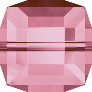 SWAROVSKI 5601 6mm Cube Light Rose